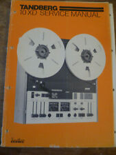 Tandberg   Model  10XD  Reel to Reel Recorder   Service Manual