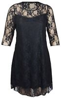 New Womens Plus Size lace Detail Going out Dress 14-28