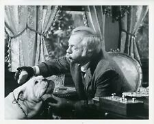 MICKEY ROONEY AND BULLDOG EVIL ROY SLADE ORIGINAL 1971 NBC TV PHOTO