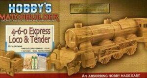MATCHBUILDER 4-6-0 Express Loco & Tender Matchstick Model Kit MSLOCO
