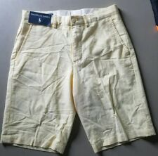 NEW Mens Polo Ralph Lauren Short Bermuda Preston Yellow Soft Cotton Sz 30 NWT