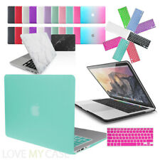 Rubberized Hard Case Cover with Keyboard Skin for Apple MacBook Air, Pro, Retina