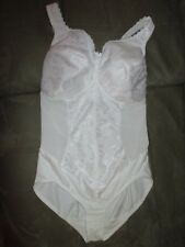 Glamorise 36 F Shaper White Adjustable Straps Hook Crotch Shldr2Crotch=approx.28