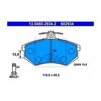ATE 13.0460-2934.2 Bremsbelagsatz, Scheibenbremse  Links für Audi 80 Coupe 90