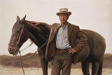 James Bama PAUL NEWMAN AS BUTCH CASSIDY & SUNDANCE KID 18x28 S/N Western Art