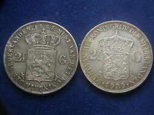 2x 2 1/2 Gulden Silber Niederlande Silber 1867 , 1929 - Netherlands W/21/679