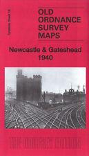 OLD ORDNANCE SURVEY MAP NEWCASTLE & GATESHEAD 1940