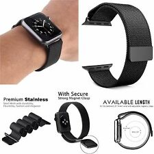 For Apple Watch 38mm Series 2 Stainless Steel Band with Strong Magnet Lock Strap