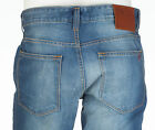 TRUE RELIGION Mens Slim Straight Denim Jeans MID BLUE Embroidered 30-38 $295 NWT