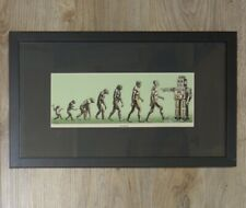 2008 Go Back - Custom Framed Green Kraft Variant Handbill s/n by Emek