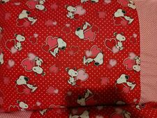 Snoopy Hearts 2 pattern 100% new Cotton handmade Pillowcase one pair