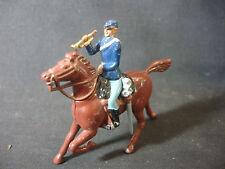 1990 Lead Britains Soldier Military Horse Bugle Horn Figurine Train Garden