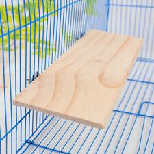 Wooden Hamster Squirrel Parrot Bird Perch Stand Platform Hanging Pet De Toy B7B6