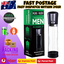 Electric Vacuum Pump Enlarger Male Penis Cock Erection Stretcher Extender