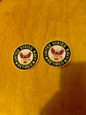 """2 Us Navy Retired American Flag Patch Military Service Uniform Sleeve 3"""" Round"""