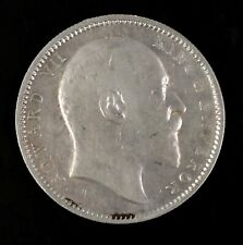 1908 Edward VII India One Rupee Silver Coin Circulated