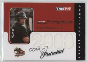 2008 TRISTAR Prospects Plus PROtential Game Used /199 Brett Wallace #P-BW