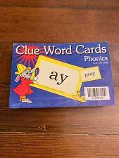 Abeka Clue Word Cards Phonics Homeschool Preschool Elementary Kindergarten 132
