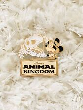 1999 Walt Disney World Animal Kingdom Park Pin - Mickey Mouse w/ Fossil Skull