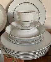 Vintage 87 Piece Dinnerware Set ~Wentworth Fine China Princess #3418 Japan
