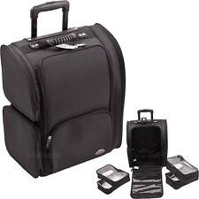 Rolling Soft Makeup Travel Case 2-Wheeled Carry-on Tote Luggage Bag Sunrise NIB