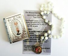 Blessed Sacrament, Spiritual Communion, Mother Of Pearl Chaplet, set.