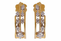 Classy 0.32 Cts Natural Diamonds Stud Earrings In Solid Hallmark 18K Yellow Gold