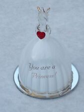 CINDERELLA Mirror GIRLS Gift@YOU ARE A PRINCESS@Glass 22Ct@CROWN@WHITE@Red HEART