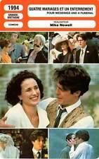 FICHE CINEMA : QUATRE MARIAGES ET UN ENTERREMENT - Grant,MacDowell,Newell 1994