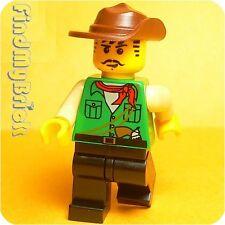 M406 Lego Adventurers Johnny Thunder Minifigure w/ Green Shirt & Black Legs NEW
