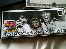 Elvis Presley half dollar and stamp 30th anniversary NIB mint