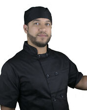 Trend Chef 18011 Apparel Mens Moisture Wicking Mesh Chef Coat - Black