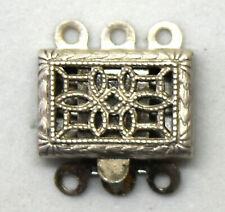 Antique Sterling Silver Three Strand Clasp