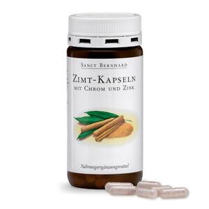 Zimt-Kapseln mit Chrom & Zink | Diabetiker geeignet | 180 Stück | Sanct Bernhard