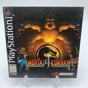 Mortal Kombat 4 (Sony PlayStation 1, 1998) PS1 Manual ONLY w/ Registration Card