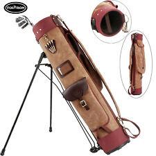 Tourbon Golf Clubs Stand Bag Carry Cart Case Staff Shoulder Pack Travel Canvas
