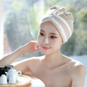 Hair Towel Wrap Turban Microfiber Fast Drying Shower Towel
