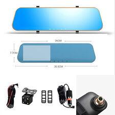 Voiture double objectif Rétroviseur LCD 4.3 vidéo HD Affichage conduite enregistreur caméra