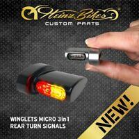 HeinzBikes Winglets MICRO 3in1 Blinker hinten mit Rücklicht Bremslicht Schwarz