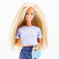 Feeling Fun Barbie 1988 Redressed With Accessories. Blond Long Hair, Blue Eyes