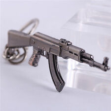 Military AK47 Assault Rifles Gun Model Key Ring Keychain Metal Pendant Boy Gift