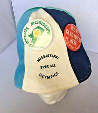 Vintage Bucket Hat Special Olympics Kitsch Mississippi Souvenir Hugger Pins