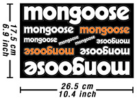 Mongoose Decals Stickers Bicycle Vinyl Autocollant Aufkleber Adesivi /679