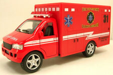 "Kinsmart 5.25"" Diecast Model Rescue Fire Department Paramedic Ambulance Red"
