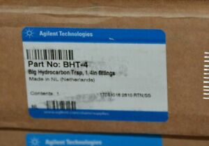 "New in Box Agilent Big Hydrocarbon Trap 1/4"" Fittings BHT-4"