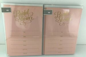 Hallmark Bridal Shower Party Invitations 20 Cards Total Pink Gold
