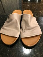 Free People Bueno Shore Thing Slide Sandals Size 39, Tan Leather, NEW!