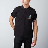 Moschino Polo T-Shirt Tee Gym No 1 Logo Signature Black M, L, XL, XXL RRP £75