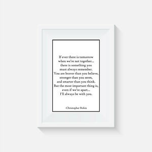 Winnie the Pooh inspired, print, poster, disney, quote, wall art, picture, decor