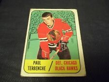 1967-68 Topps #58 Paul Terbenche Rookie Black Hawks - good
